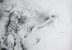 "'Drawings for Franz No2', 11""x15"", graphite on paper, 2011"